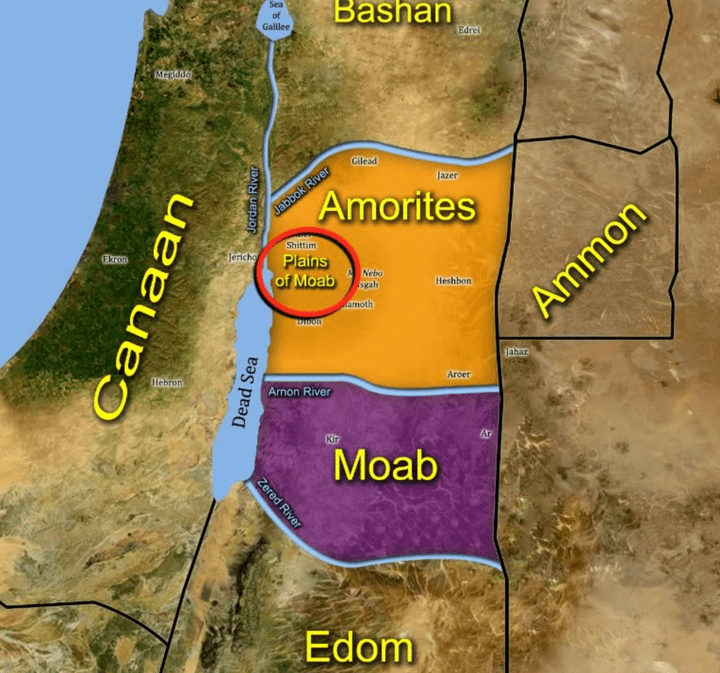 Map Amorites before the Israelites came map 2 reference