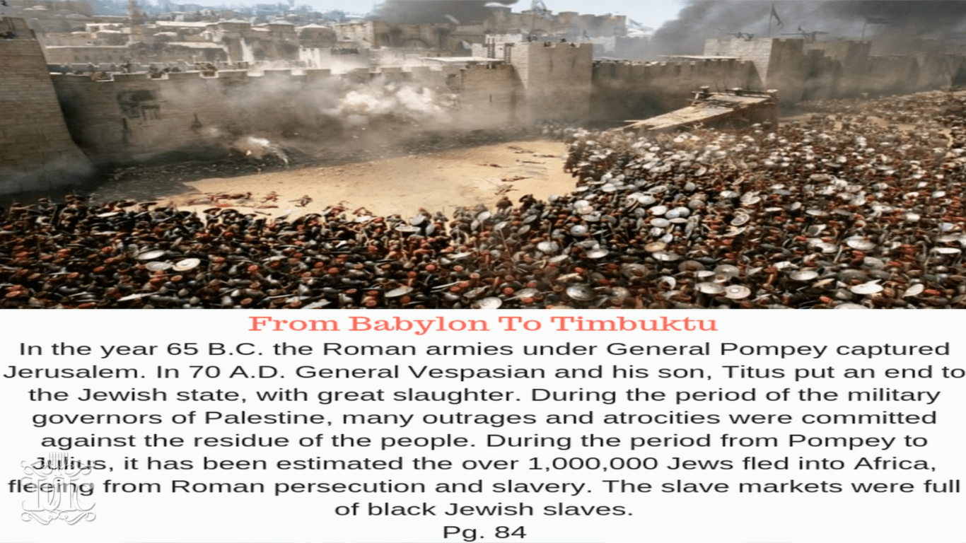 70AD is when the Israelites lost their records