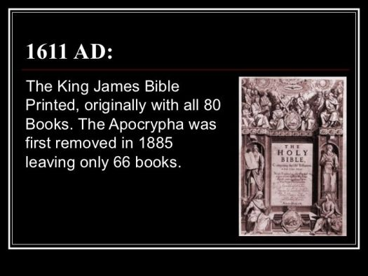 The Apocrypha is part of the bible always has been