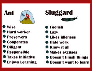 Ants dont need much to finish a job dont be a sluggard